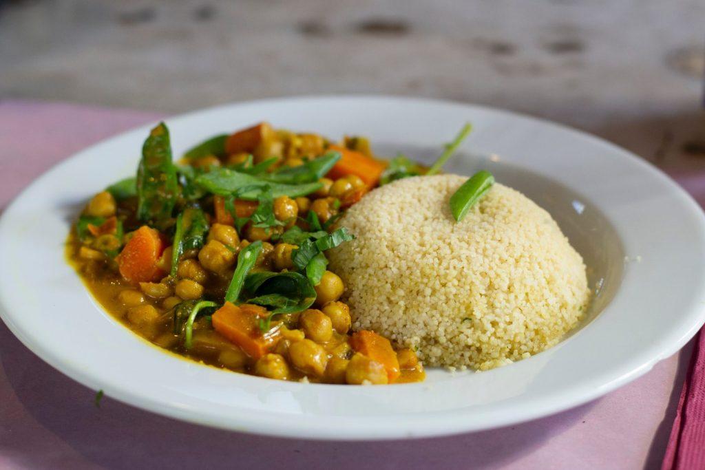 Vegan für Anfänger, Reis und Gemüse